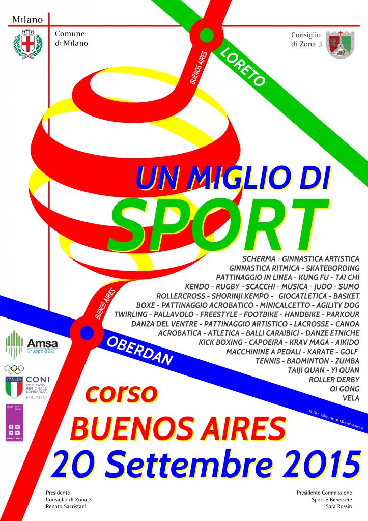 un miglio di sport 2015 Locandina